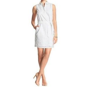 Banana Republic White Eyelet Dress SZ 4 *NWT*